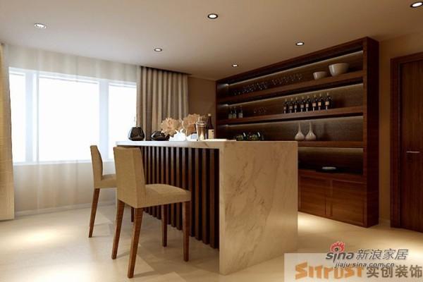 鑫水园150平新中式设计案例—酒柜储藏区