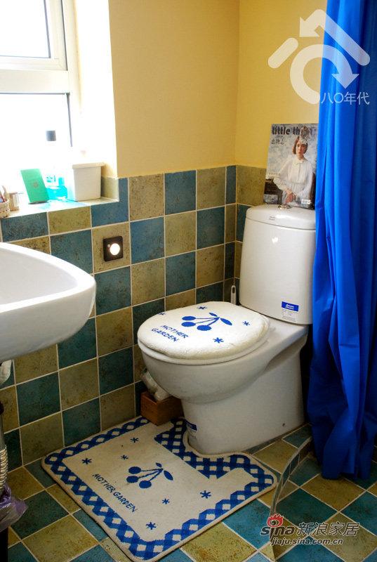 地中海 一居 卫生间图片来自用户2757320995在小夫妻5万改造30平地中海37的分享