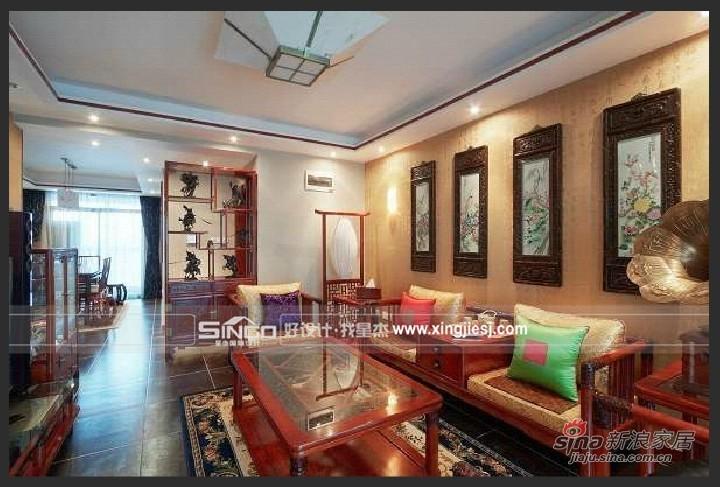 中式 四居 客厅图片来自用户1907662981在中式混搭66的分享