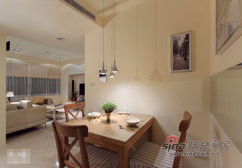 """简约 二居 餐厅图片来自用户2738845145在小夫妻5.4万轻松装出75平 简洁""""心""""家86的分享"""