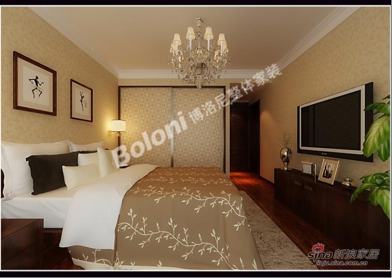 中式 三居 卧室图片来自用户1907659705在5万打造御景城新中式风格家装37的分享