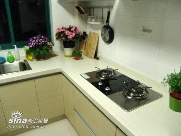 简约 三居 厨房图片来自用户2738820801在三室两厅经典装修案例 甜蜜港湾绽放温馨233的分享