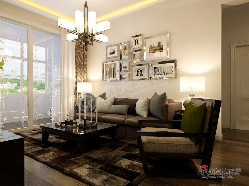 简约 二居 客厅图片来自阳光力天装饰在2室2厅现代简约功能美家21的分享