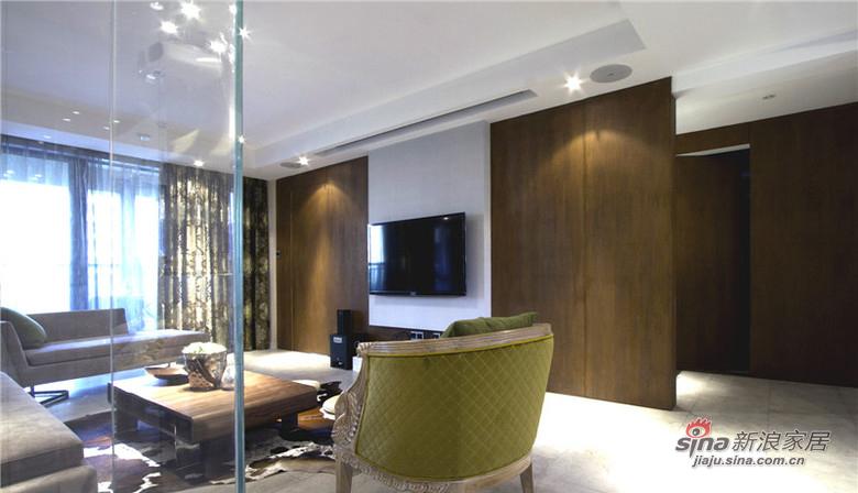 混搭 三居 客厅图片来自用户1907655435在【高清】9万装125平混搭时尚三居14的分享