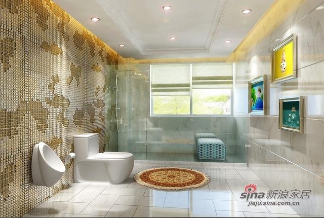 欧式 别墅 卫生间图片来自用户2772856065在自在香山欧式古典13的分享
