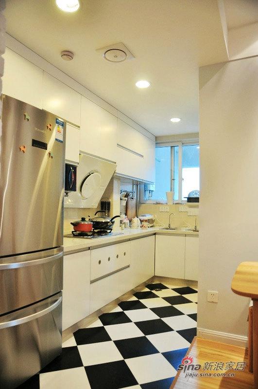 北欧 二居 厨房图片来自佰辰生活装饰在54平清新完美宜家风2室1厅55的分享