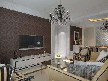 科艺隆装饰一居室新欧式风格17