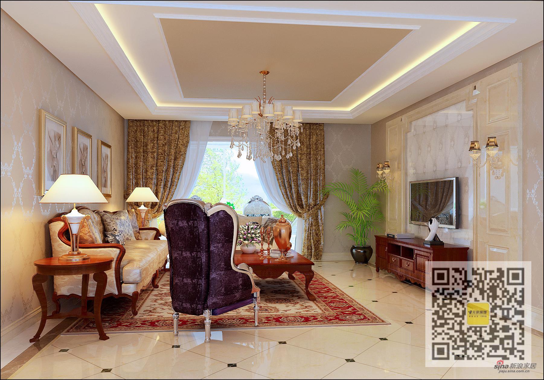 欧式 别墅 客厅图片来自用户2746869241在欧式风格别墅设计76的分享