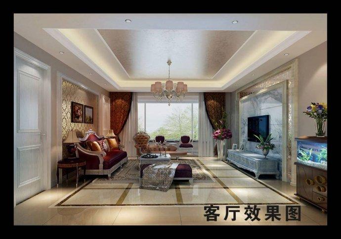 欧式 三居 客厅图片来自用户2772873991在129平奢华欧式三居28的分享