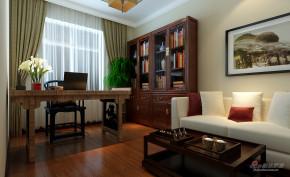 中式 四居 书房 舒适图片来自用户1907661335在170平中式风格打造万锦江城四居室89的分享