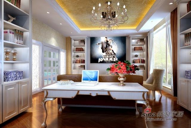 欧式 别墅 书房图片来自用户2772856065在自在香山欧式古典13的分享
