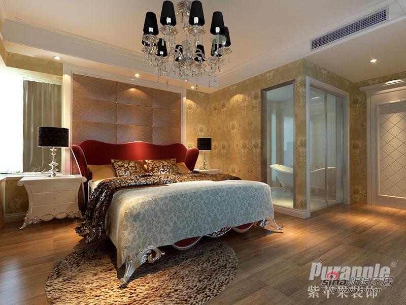欧式 三居 卧室图片来自用户2772873991在12万精致装修紫苹果打造53的分享