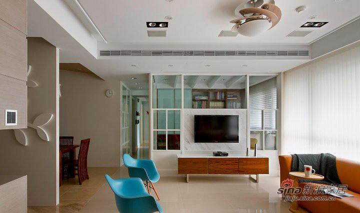 北欧 二居 客厅图片来自装修微日记在【高清】11万营造79平北欧时尚两居41的分享