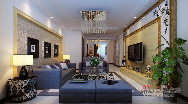 简约 三居 客厅图片来自用户2559456651在8万全包打造115平时尚3居41的分享