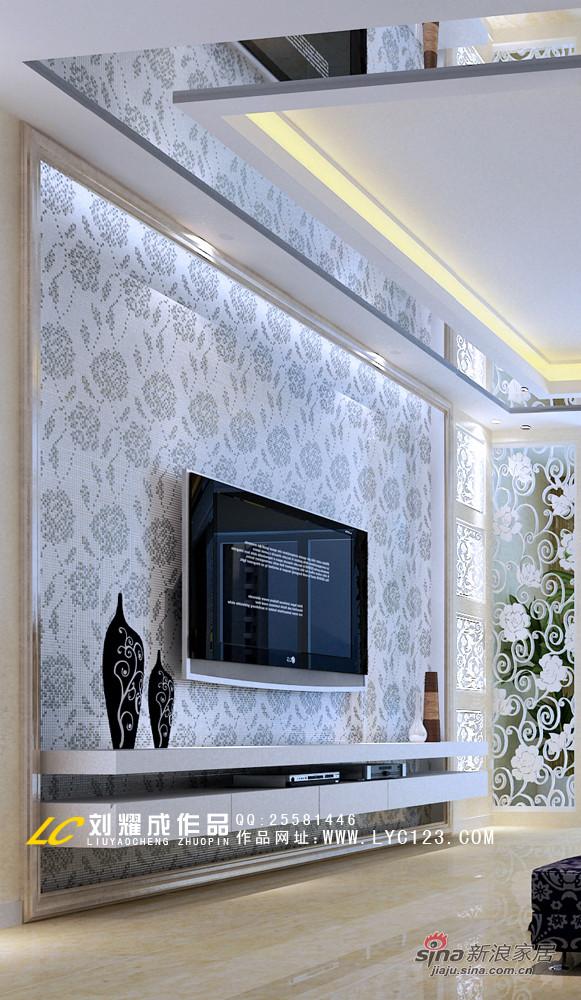 简欧电视背景墙设计