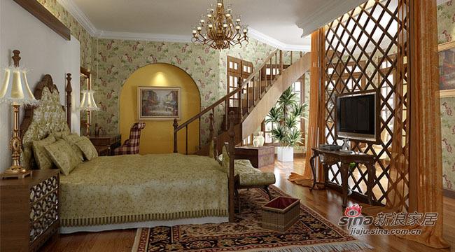 混搭 别墅 卧室图片来自用户1907655435在8.9万完美演绎2居东南亚风情82的分享