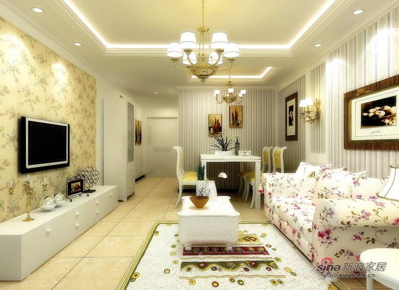 田园 二居 客厅图片来自用户2737946093在80后超爱的温馨浪漫韩式田园风65的分享