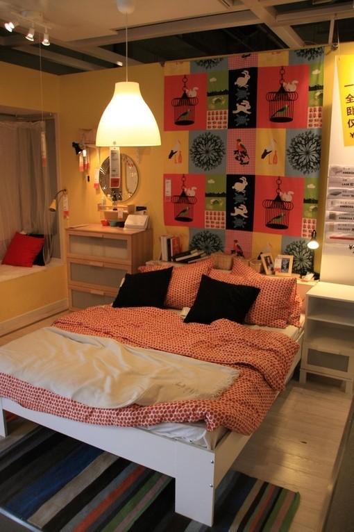 宜家的卧室样板