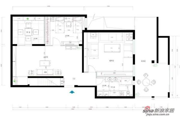 阔达装饰案例-地下室平面布置图
