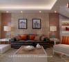 现代简约风格客厅沙发背景