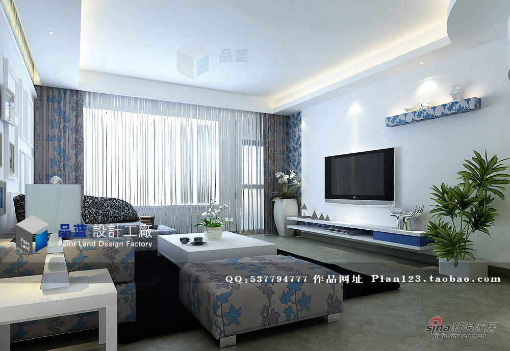 田园 四居 客厅图片来自用户2737946093在155平米《蓝色恋人》样板房41的分享
