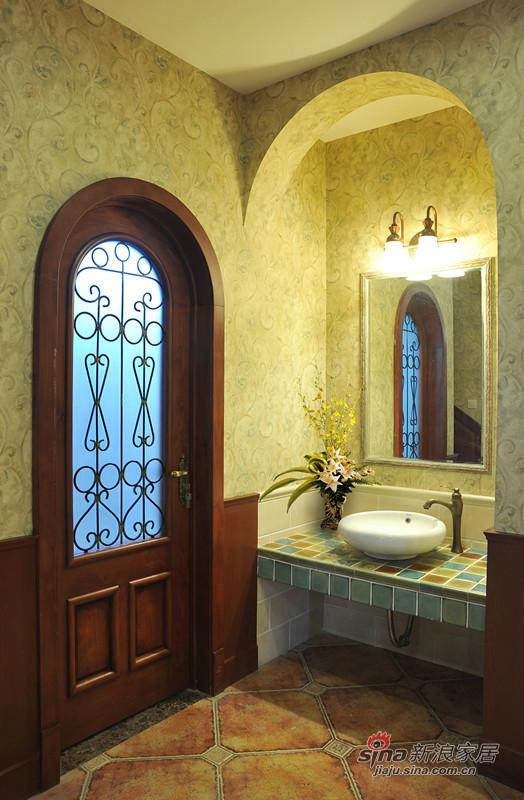 美式 别墅 卫生间图片来自用户1907685403在美式休闲风格大别墅13的分享