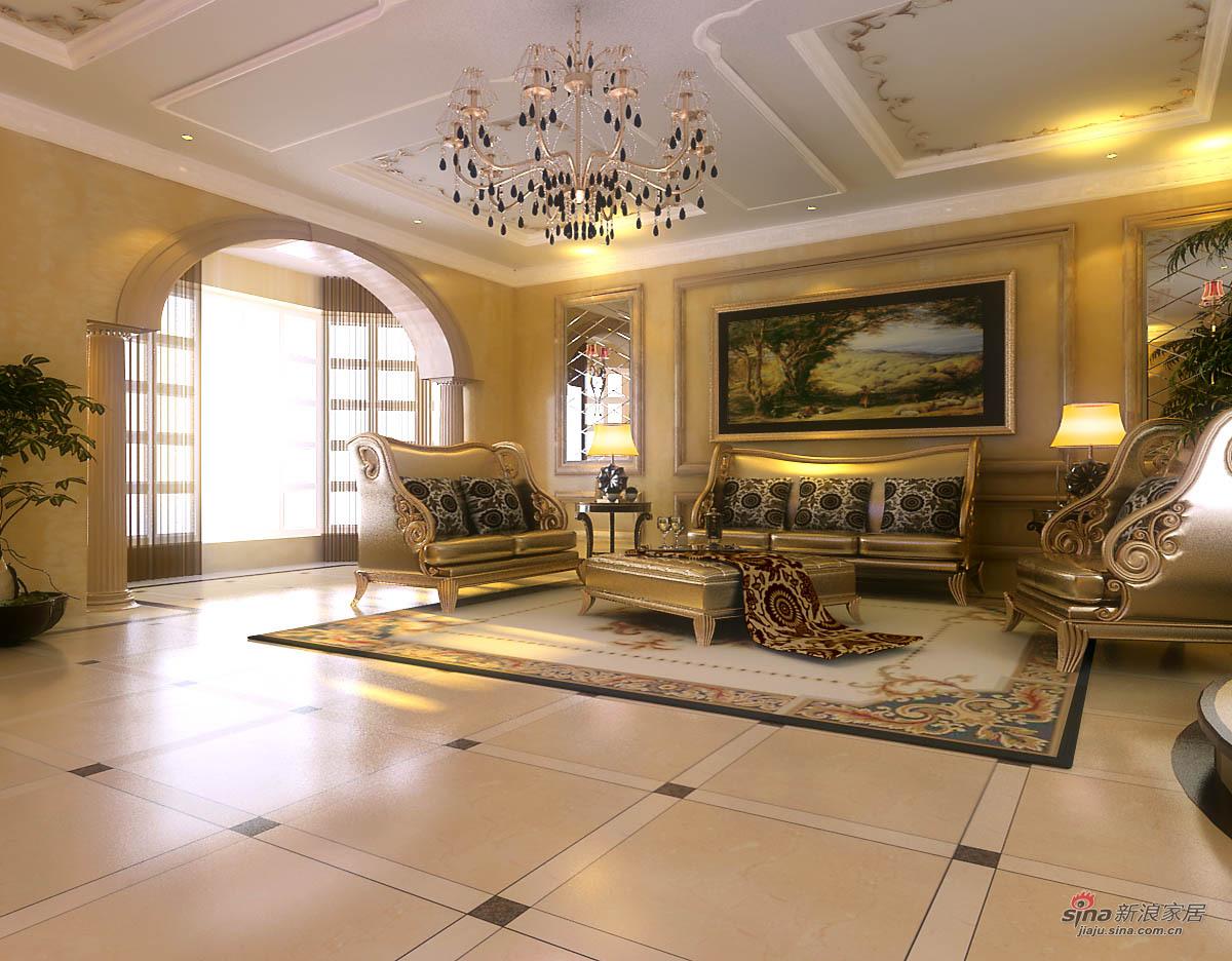 欧式 四居 客厅图片来自用户2745758987在欧式风格别墅设计62的分享