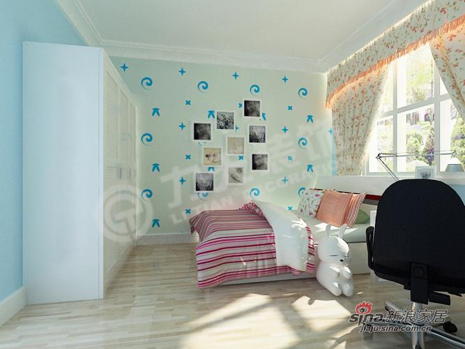 田园 二居 卧室图片来自阳光力天装饰在新世纪花园B户型96.86㎡田园风格73的分享