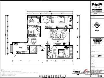 简欧风格的三居室22