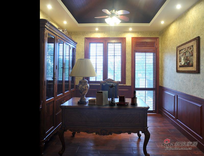 美式 别墅 书房图片来自用户1907685403在美式休闲风格大别墅13的分享
