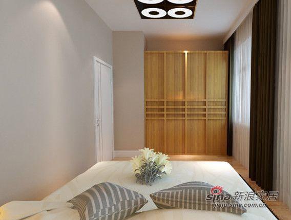 简约 三居 卧室图片来自用户2738829145在复地东湖国际三居室简约风格78的分享