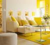可以把整个墙面都刷成黄色,并在地上铺上一张黄色的地毯,购置几个黄色的沙发靠垫。整个空间立即有了生机勃勃的感觉。比纯净的白色拥有更多的活力色彩,比低调的灰色更具魅力之感,黄色将会带给您全新的居家体验。