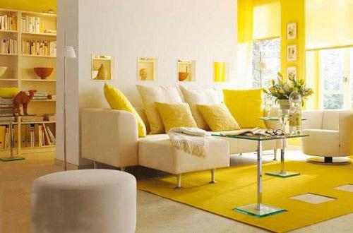 简约 黄色 客厅 装修案例 元洲装饰小李子图片来自用户2772856065在colorful room的分享
