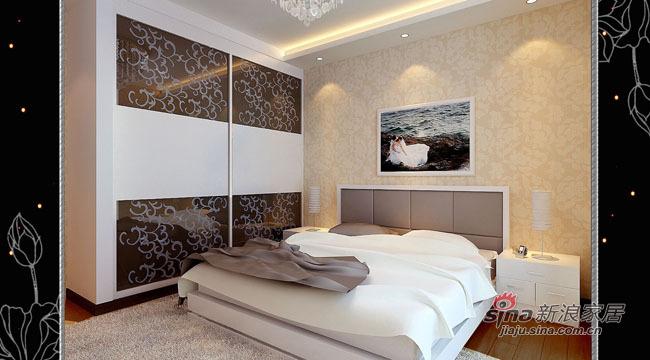 简约 三居 卧室图片来自用户2559456651在8万全包打造115平时尚3居41的分享