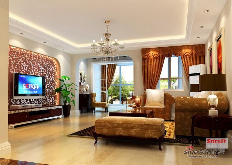 欧式 三居 客厅图片来自用户2557013183在细节彰显品味 9万演绎134㎡雅致欧式洋房94的分享