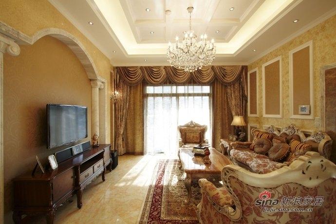 欧式 别墅 客厅图片来自用户2557013183在西山壹号院350平米独栋欧式奢华别墅设计68的分享