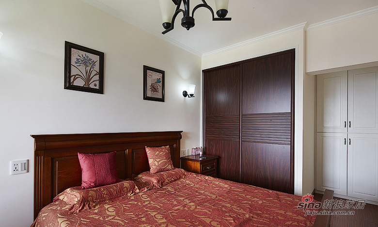 混搭 二居 卧室图片来自用户1907691673在【高清】92平中西合璧混搭精致家13的分享