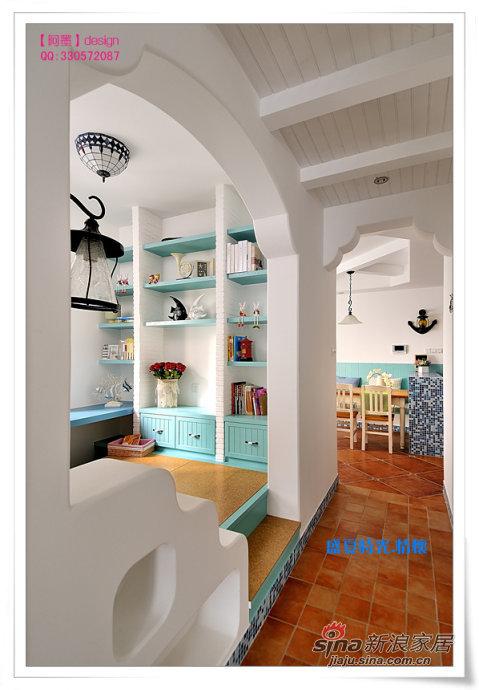 地中海 三居 卧室图片来自用户2757320995在90平盛夏时光地中海风淡蓝爱家89的分享
