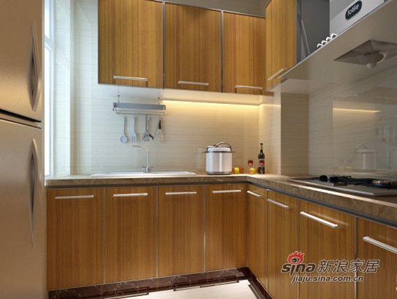 简约 三居 厨房图片来自用户2738829145在复地东湖国际三居室简约风格78的分享