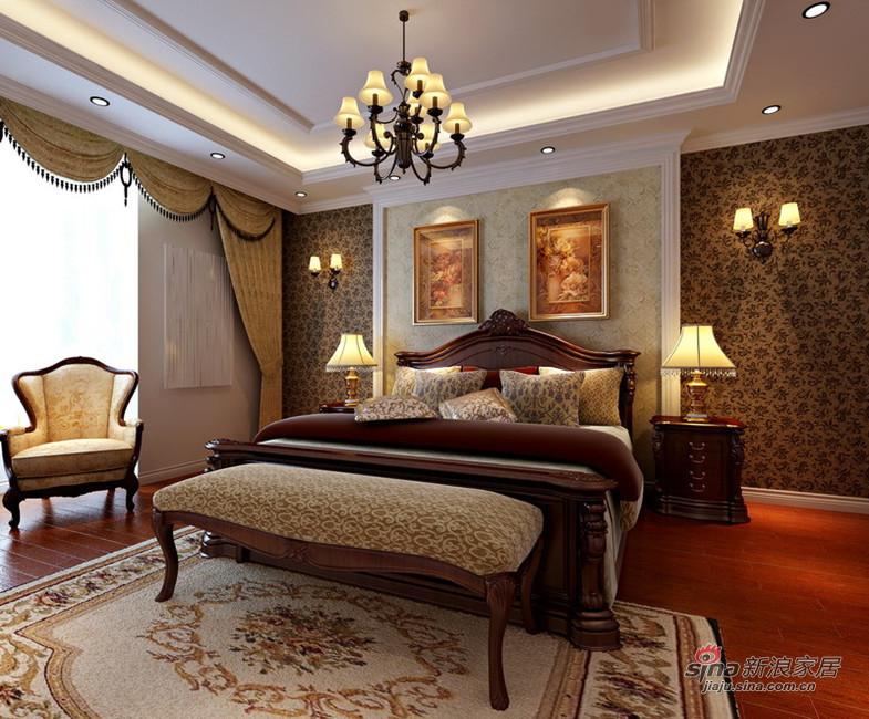 欧式 复式 卧室图片来自用户2746953981在大兴236平优雅大气欧式韵味复式设计13的分享