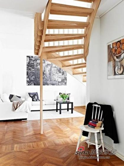 简约 复式 楼梯图片来自城市人家犀犀在109平米入住实景照片79的分享