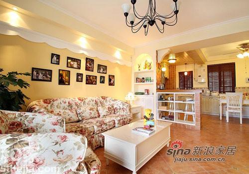 田园沙发的客厅
