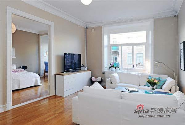 简约 二居 客厅图片来自用户2739153147在4.2万巧装60平白色浪漫2居58的分享