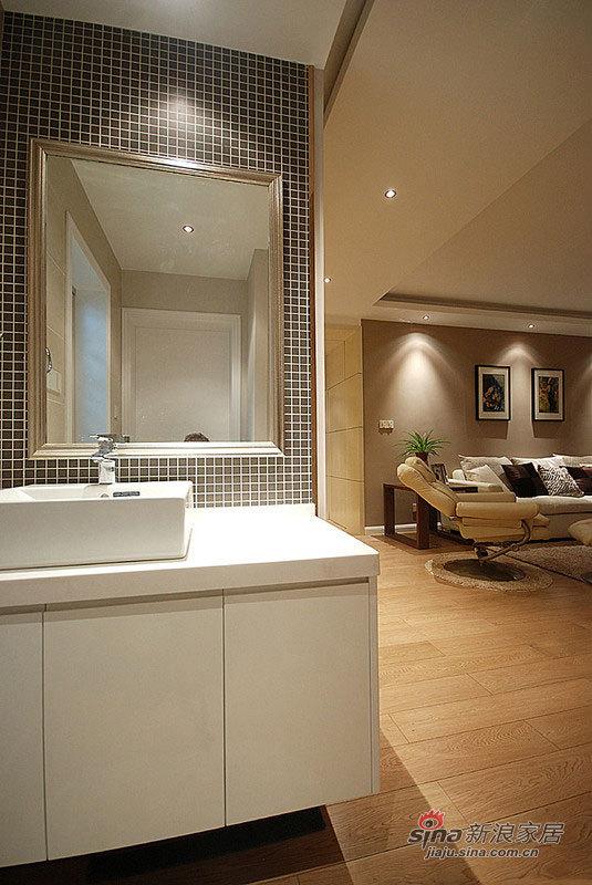 简约 三居 卫生间图片来自佰辰生活装饰在简约时尚120平摩登3居室家84的分享