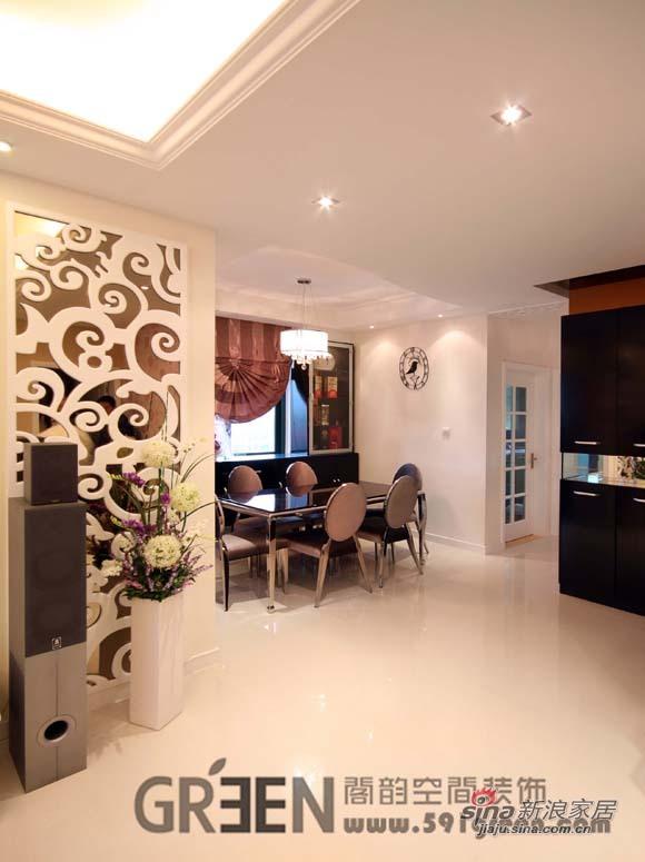 欧式 二居 餐厅图片来自阁韵空间装饰在紫色馨香38的分享