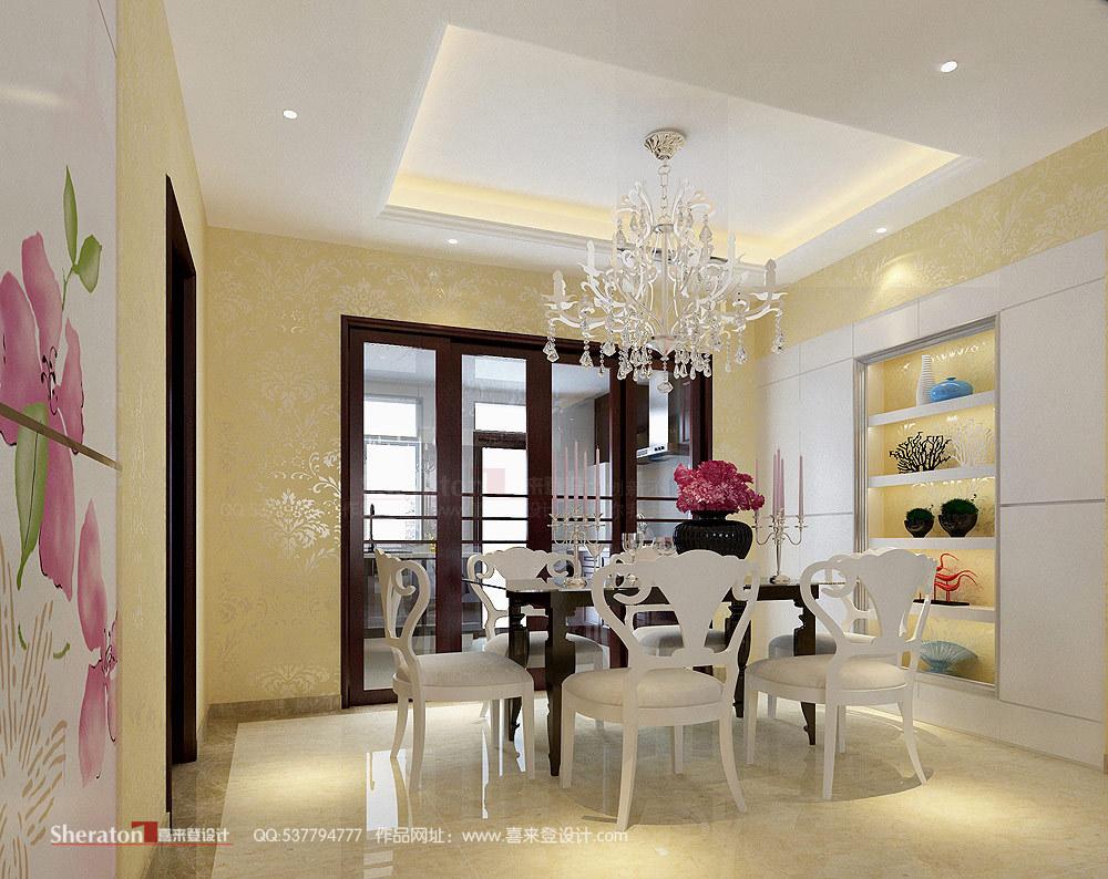 欧式 复式 餐厅图片来自用户2746948411在4万元改造160平江山帝景51的分享