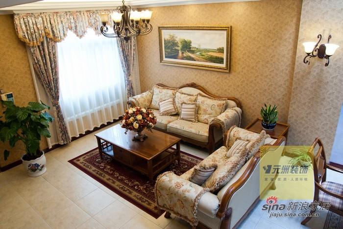 美式 别墅 客厅图片来自用户1907686233在270平米龙熙顺景别墅美式风格装修29的分享
