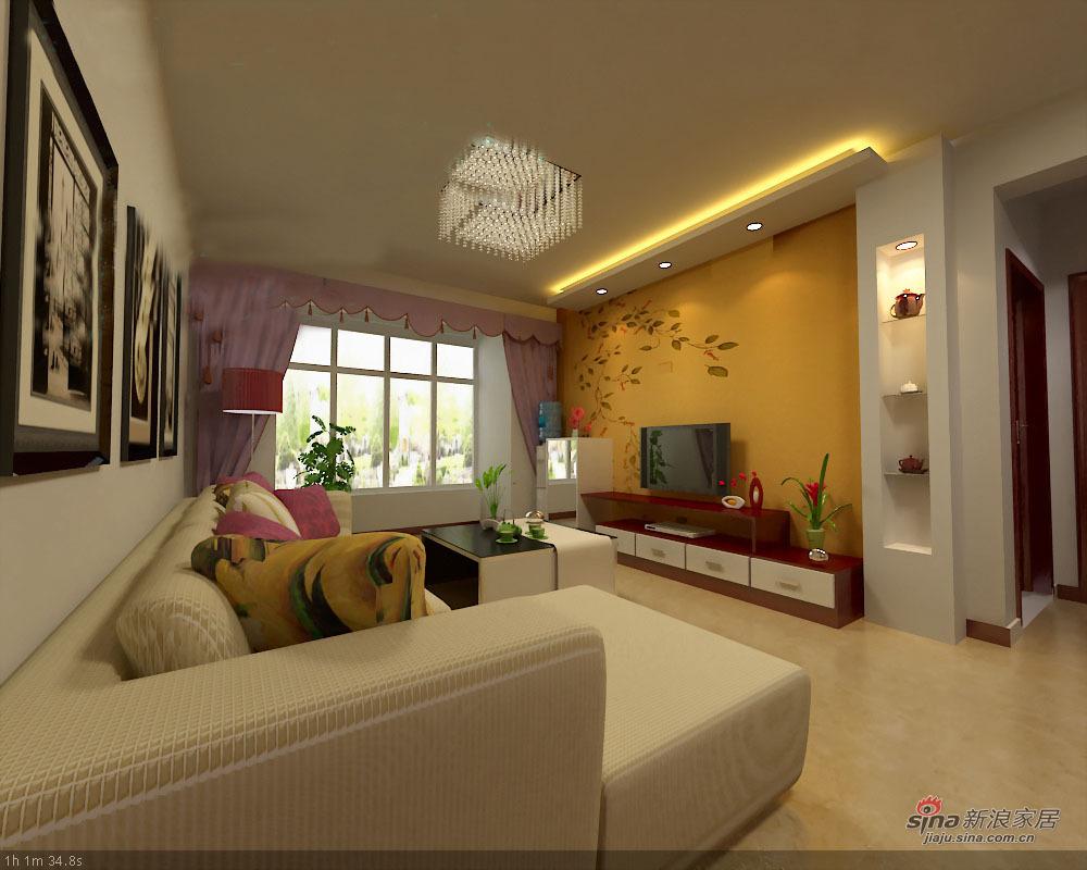 简约 二居 客厅图片来自用户2739081033在温情暖意简约两居71的分享