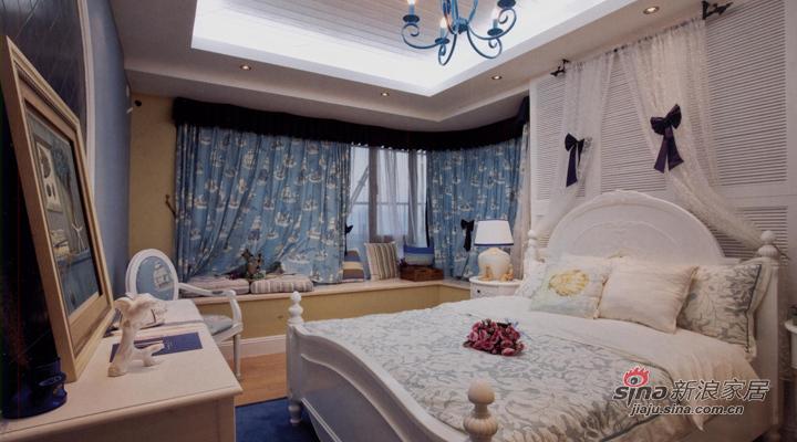 地中海 三居 卧室图片来自用户2757320995在地中海式风格设计70的分享