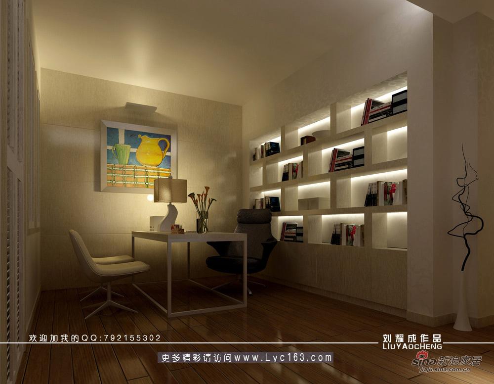 欧式 四居 书房图片来自用户2746869241在品味古典与现代交相辉映的复式豪宅35的分享